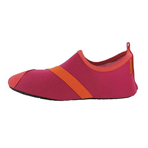Fitkicks Fitkicks flexible Schuhe für Ballett, Yoga, Reisen, Wasser, schwarz - Fusion/Orange - Größe: 40/41 EU