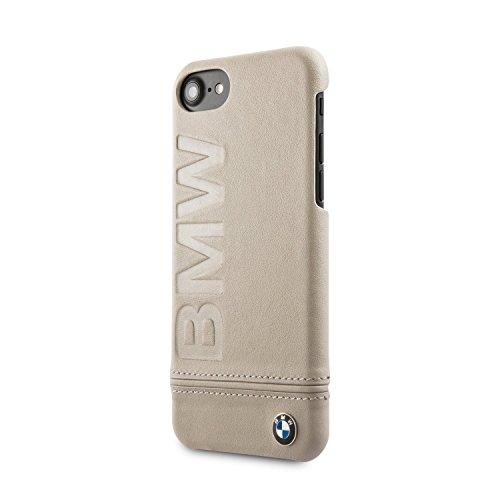 Funda rígida de piel para BMW iPhone 7 y iPhone 8, color negro, con licencia oficial
