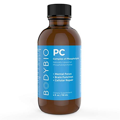 BodyBio - PC Phosphatidylcholine, Liposomal Phospholipid Complex for Cell Health - Enhance Brain Function, Focus, Memory & Clarity - Microbiome Support - Science & Research Backed - 4 oz -  PC4