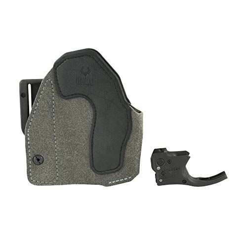VIRIDIAN WEAPON TECHNOLOGIES, Reactor 5 Gen II Red Laser, Smith & Wesson M&P Shield with ECR Instant On Holster, Black, Fits: S & W M & P Shield