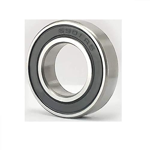 FMTZZY Cojinete de repuesto duradero firme seguro 5 piezas 6901RS rodamiento de bolas de caucho 6901-RS 12x24x6mm rodamiento acero material rodamiento de bolas