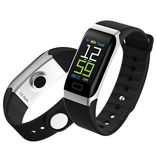 YHDQ Schrittzähler, Aktivitäts-Tracker-Sportuhr mit Herzfrequenz-Blutdruck- und Schlafmonitor, intelligenter Kalorienzähler-Black