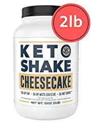 2g NET CARBS   23g FAT   9g PROTEIN - We carefully formulated our Keto Cheesecake Shake to ensure the macros fit a ketogenic diet. 80% of the calories come from fat, making it an easy, on the go keto protein shake. REAL CREAM CHEESE, REAL DELICIOUS -...