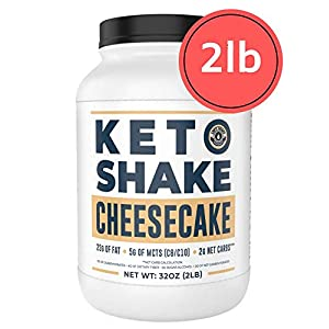 Cheesecake Keto Meal Replacement Shake [2lbs] – Low Carb Keto Protein Powder Shake Mix, High Fat Protein Shake with MCTs, Collagen Peptides and Real USA Cream Cheese