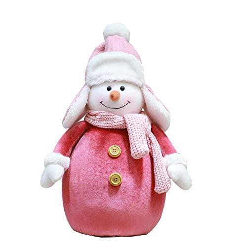jieGorge Santa Cloth Doll Birthday Present For Home Christmas Holiday Decoration, Home Decor,for Christmas Day (L)