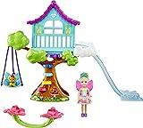 Barbie Chelsea Dreamtopia Muñeca con set de juego cabaña mágica en el árbol con accesorios y mascota de juguete (Mattel GTF49)