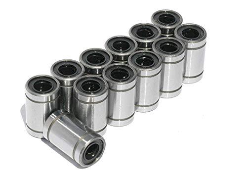 12 Pz Lm8uu Cuscinetti Lineari 8mm x 15mm x 24mm Stampante 3D Prusa Mendel Cnc Macchina