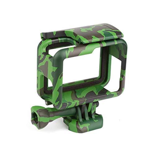 Linghuang Schutzgehäuse für GoPro Hero 7 Schwarz/Hero 6 / Hero 5 (2018) Kamera Camouflage Hülle Rahmen Käfig Zubehör (Grün)