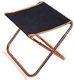 YGCBL Decoración al aire libre mini taburete plegable de aluminio silla de pesca ultraligera