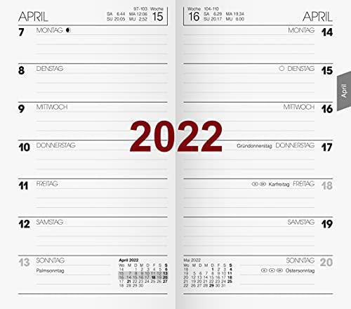 BRUNNEN 1075800002 Taschenkalender Ersatzkalendarium Modell 758, 1 Seite = 1 Woche, 8,7 x 15,3 cm, Karton-Umschlag, Kalendarium 2022