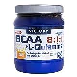 BCAA 8:1:1 + Glutamina 500g, Sabor Naranja. Con un plus de vitamina B6. Recuperación y Protección al más alto nivel