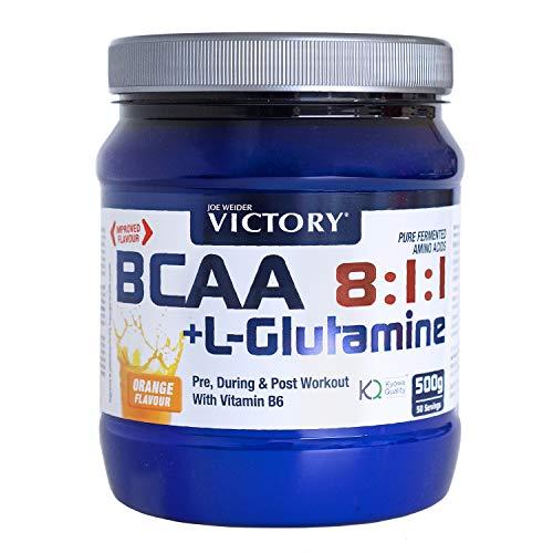 Weider Integratore Alimentare Aminoacidi BCAA 8:1:1 e Glutamina, Sapore Arancia - 500 Gr