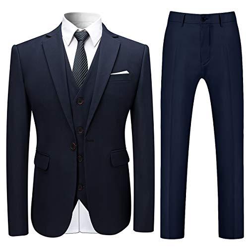 Anzug Herren Anzug Slim Fit 3 Teilig Herrenanzug 3-Teilig Anzüge Herren Modern Sakko für Hochzeit Business