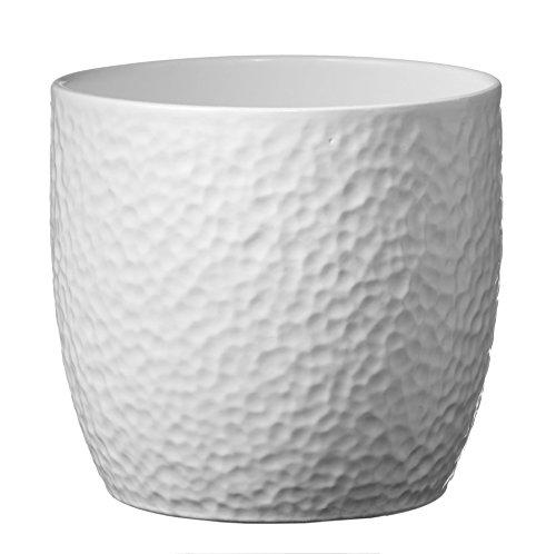 soendgen Céramique Pot, Boston, Argile, weiß, 14 x 14 x 13 cm