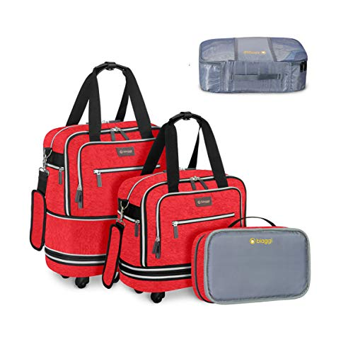 Zipsak Boost! Expandable Under-Seat Carry-On + Zipcube (Red)