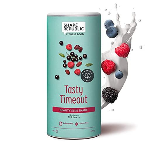 Shape Republic Beauty Slim Shake Wildbeere (420g), Gewichtsmanagement Shake für Frauen, proteinreicher Diät Shake zum Abnehmen, vollwertiger Mahlzeitenersatz mit wertvollen Vitaminen