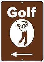 再生金属看板インチ、ゴルフグラフィックアクティビティサインキャンプ場看板金属看板ビンテージ外観金属看板ホームハウスコーヒービールドリンクバー装飾