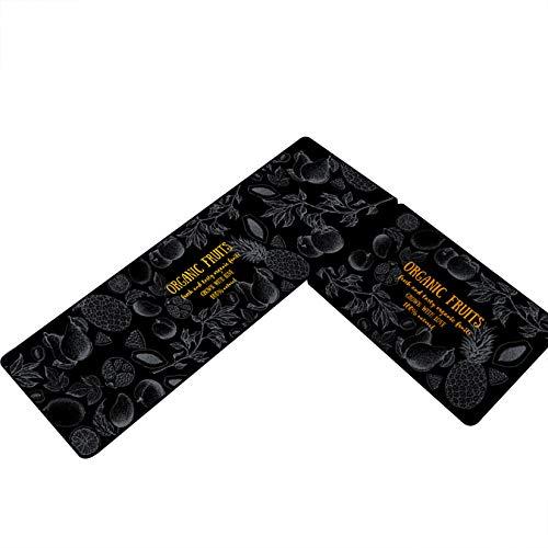 Renhe 2PCS Tapis de Cuisine Devant Evier Paillasson Antidérapant Absorbant Tapis de Bain Douce Motif Imprimé 3D pour Porte Buanderie Entrée #3 40 * 60cm+40 * 120