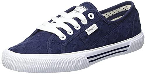 Pepe Jeans ABERLADY Lace, Zapatillas Mujer, Azul Marino, 39 EU