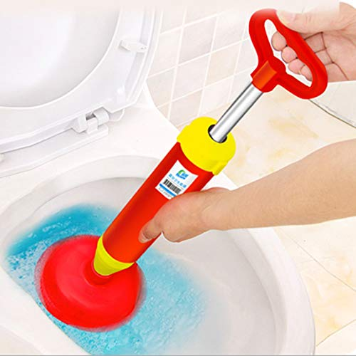 ZinFRaya Handle Powerful Toilet Dredge Suction Plunger Cleaner Drain Buster Big Suckers Toilet Pumping Sink Cleaning Tool