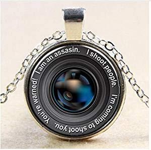 Colgante de cámara vintage, collar de lente de cámara, colgante de lente de cámara, joyería para fotógrafo, regalo de fotografía, cámara antigua, collar para hombres