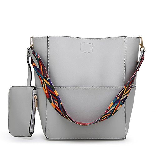 Auspicious beginning Weibliche Bänder einzelner Schultergurt Eimer Handtasche mit Geldbörse