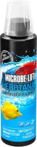 MICROBE-LIFT Herbtana - Kräuterbasierendes Pflegepräparat zur optimalen Unterstützung des Immunsystems bei Fischen in jedem Meerwasser- & Süßwasseraquarium, 236ml