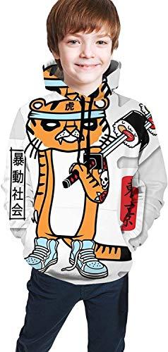 Sugee Tiger - Sudadera con capucha para adolescente, diseño de tigre