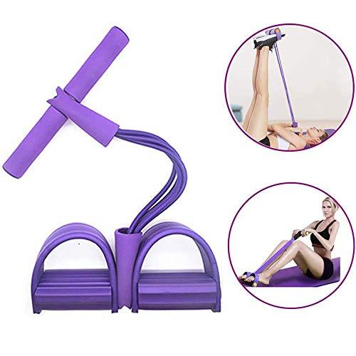Senbos Pedal Widerstand Band 4-Spannseil Fitness Zugseil Sit-up Bodybuilding Fitness Brust Expander Widerstandsbänder Home Gym Ausrüstung für Yoga, Abnehmen, Krafttraining Exerciser