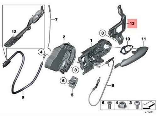 OEM F07 Adapterplatte Türschließsystem hinten links M 51227210063