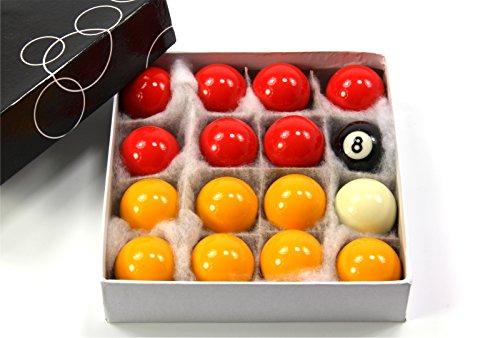 Well Made Tools infantil pequeña rojo y amarillo Set de bolas de billar - 4,14 cm (41 mm)