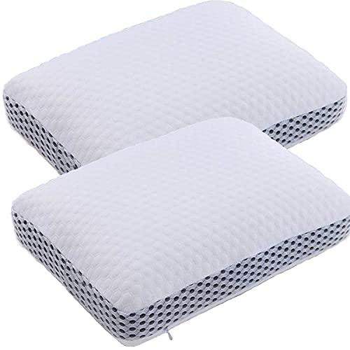 Traumreiter Almohada de espuma viscoelástica de 40 x 60 cm, mejor almohada para dormir de lado, almohada ortopédica cervical, viscoelástica, almohada cervical para dormir de lado