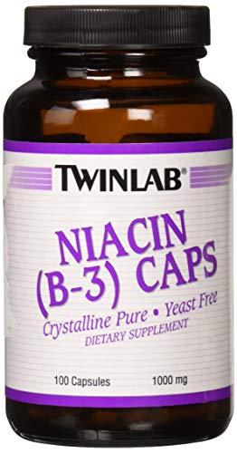 Twinlab - niacina (B-3) tapas cristalinas Pure 1000 mg. - 100 cápsulas