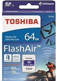 64GB TOSHIBA 東芝 無線LAN搭載SDXCカード 第4世代FlashAir W-04 UHS-1 U3 R:90MB/s W:70MB/s 海外リテール THN-NW04W0640A6 [並行輸入品]
