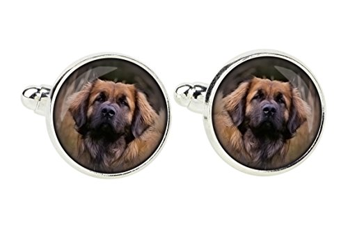 Leonberger, Gemelos para los amantes del perro, photo-jewelry, joyas para hombres, hecho a mano