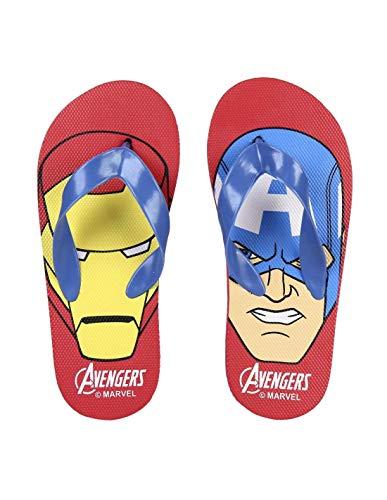 Tongs Enfant garçon Avengers Iron Man et Captain America Rouge/Bleu du 24 au 33 - Rouge/Bleu, 26/27