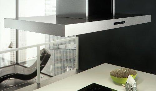 berbel Inselhaube Blockline BIH 120 BL-2 (600-950mm) Abluft weiß/schwarz/Edelstahl/RAL-Farbe/Effektbeleuchtung