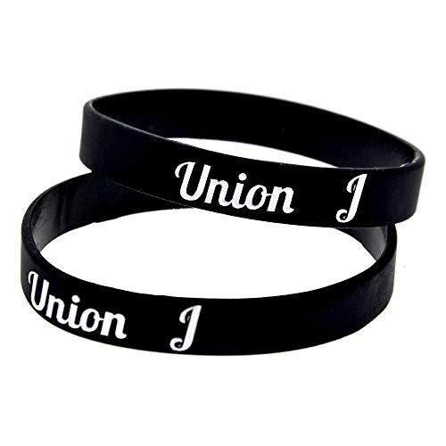 Union J, siliconen armbanden met magneten voor mannen en kinderen, 10-delige stimulatieset, zwart