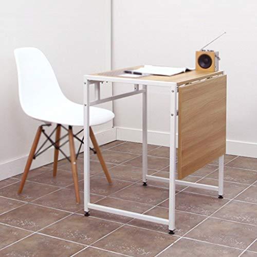 LLA dubbele eettafel klaptafel moderne minimalistische intrekbare tafel staal hout kleine appartement eettafel ruimtebesparende eenvoudige bureau kleine werkbank Kleur: wit
