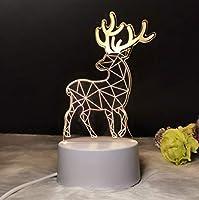 3Dナイトライト 鹿 リモコン 寝かしつけランプ 7色変更 調光機能 男の子 女の子 クリスマス 誕生日プレゼント