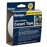 ShurTape Indoor / Outdoor Carpet Tape 1.41-in x 42-ft, White