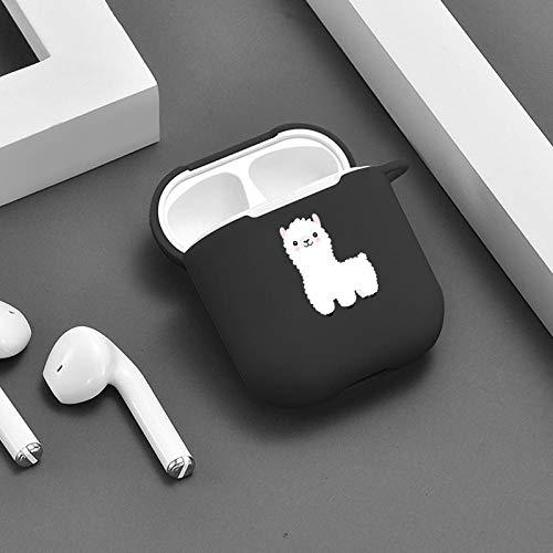 Funda protectora para AirPods Cartoon Alpaca Llama para AirPods Estuche Lindo Silicone Lujo Divertido Airpod Pro Cubierta de Air Pod Bluetooth Auriculares Accesorios Funda protectora para Airpods