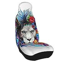 lion ライオン シートカバー カーシートカバー プロテクターシート 前席シートカバー シングルシートカバーで 軽/普通車適用、取付簡単 丸洗える、カー用品汎用 1枚