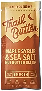 TRAIL BUTTER Maple Syrup & Sea Salt – Paleo Nut Butter Blend – Single Serve Packet - 12 pack