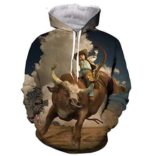Divertido Rodeo Taurino Matador 3D impresión de la Manera de Las Mujeres Camiseta de los Hombres/Camisas/Sudaderas/Chaleco/Tops Hoodie L