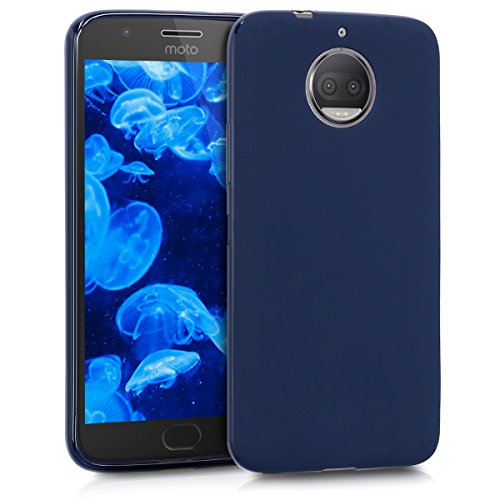 kwmobile Motorola Moto G5S Plus Hülle - Handyhülle für Motorola Moto G5S Plus - Handy Case in Dunkelblau matt