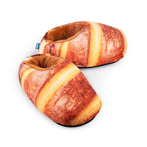 Coddies Loafers | Bread Slippers, Novelty Plush Slippers, Funny Gift, Non-Slip Grip | Men, Women & Kids (8-11 Men | 10-13 Women | EU 41-45) Brown