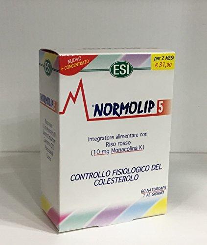 NORMOLIP 5 CONTROLLO COLESTEROLO E TRIGLICERIDI 120 CAPSULE