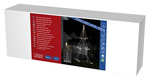 Konstsmide 3942–103 A, Tuyau LED Silhouette, métal, 6 watts, Transparent, 200 x 120 x 120 cm