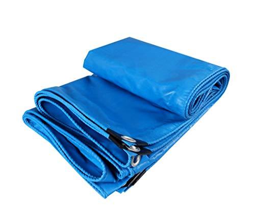 LYX® regendichte doek, vrachtwagen Poncho PVC dekzeil dekzeil outdoor regendicht zonnezeil dekzeil schaduw regendoek luifel doek blauw 6X8M